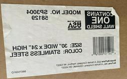 BROAN STAINLESS STEEL 30 INCH X 24 INCH SPLASH PLATE - MODEL