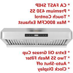 Dual Motor 800cfm 30'' Under Cabinet Stainless Steel Kitchen