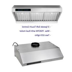 Under Cabinet Range Hood 30 inch Kitchen Stove Vent 750 CFM