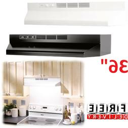 "Under Cabinet Range Hood 36"" Exhaust Kitchen Vent Duct Stove"