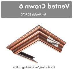 ZLINE VENTED crown molding wall RANGE HOOD 8597C-30, 8597C-3